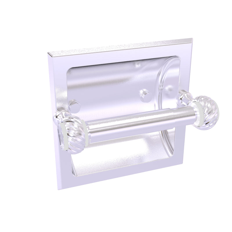 Allied Brass Pacific Grove Collection Recessed Toilet Paper Holder with Twisted Accents PG-24CT-SCH