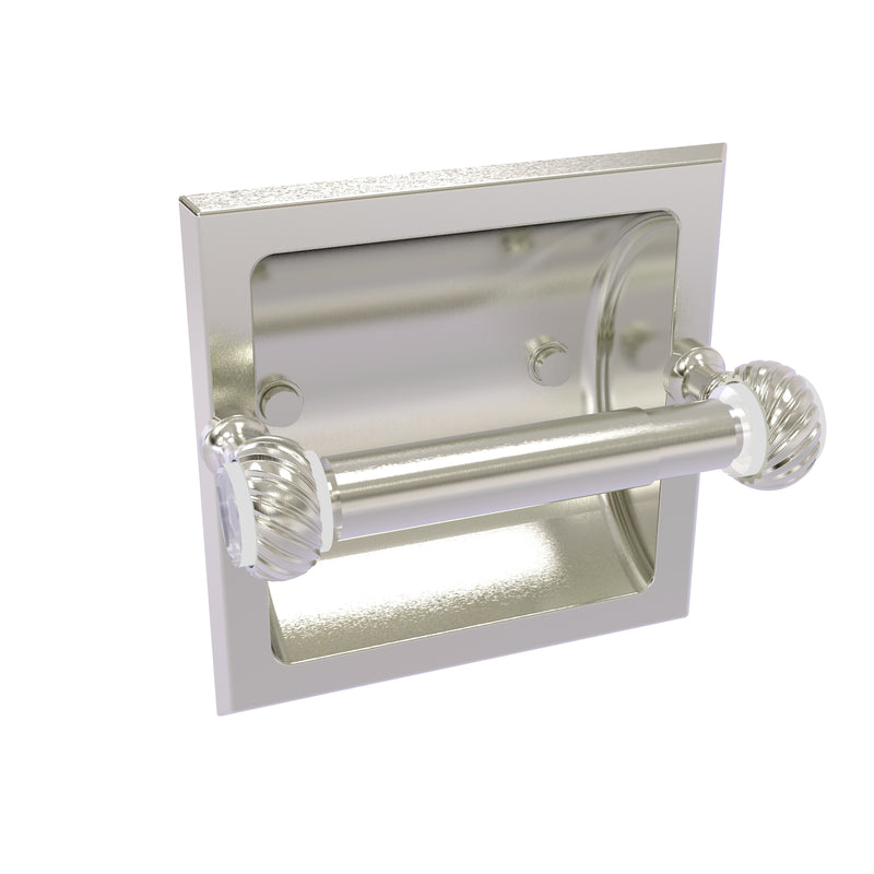 Allied Brass Pacific Grove Collection Recessed Toilet Paper Holder with Twisted Accents PG-24CT-SN