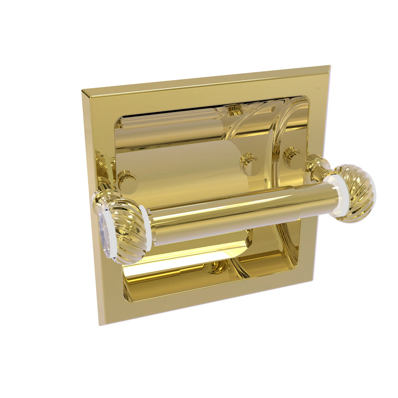 Allied Brass Pacific Grove Collection Recessed Toilet Paper Holder with Twisted Accents PG-24CT-UNL