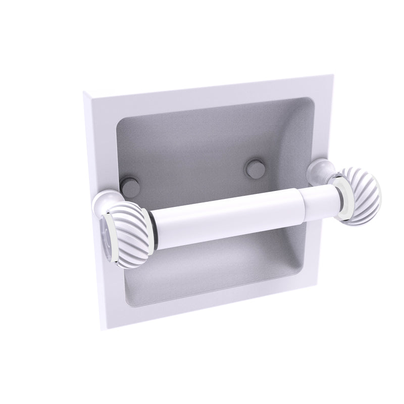 Allied Brass Pacific Grove Collection Recessed Toilet Paper Holder with Twisted Accents PG-24CT-WHM