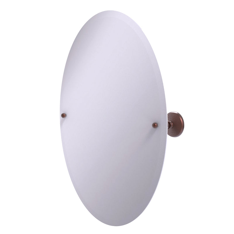 Allied Brass Frameless Oval Tilt Mirror with Beveled Edge PMC-91-CA