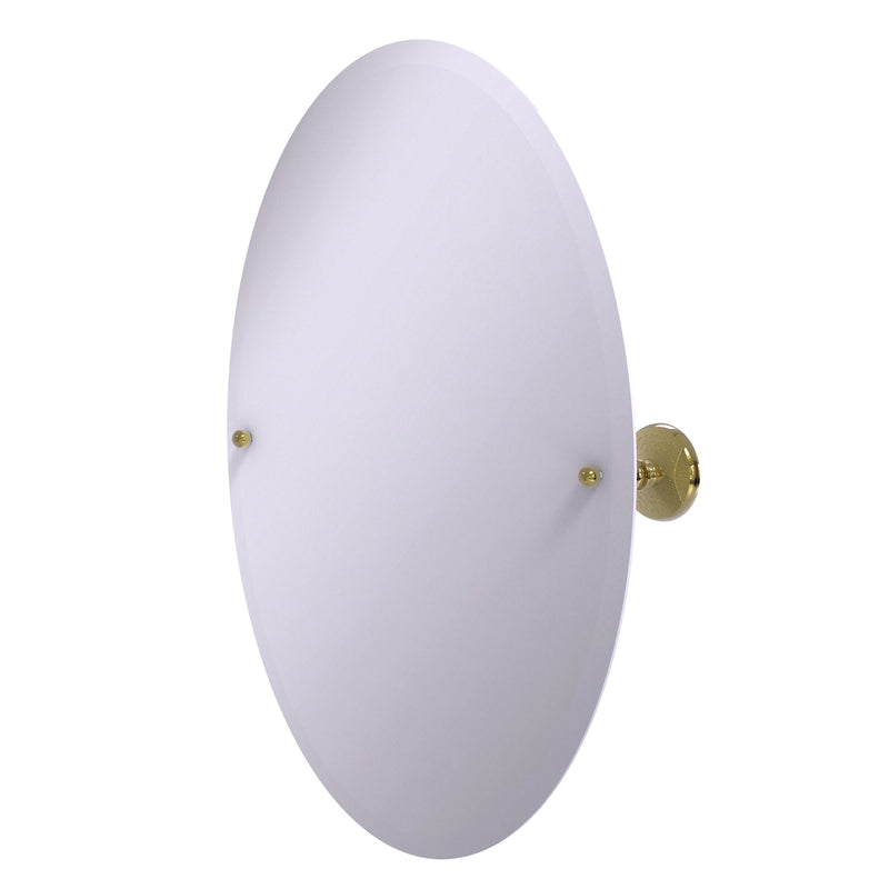 Allied Brass Frameless Oval Tilt Mirror with Beveled Edge PMC-91-UNL