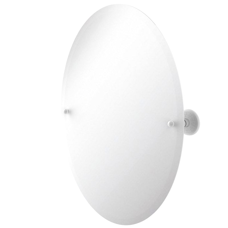 Allied Brass Frameless Oval Tilt Mirror with Beveled Edge PMC-91-WHM