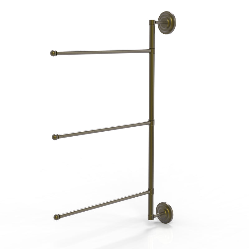 Allied Brass Prestige Que New Collection 3 Swing Arm Vertical 28 Inch Towel Bar PQN-27-3-16-28-ABR