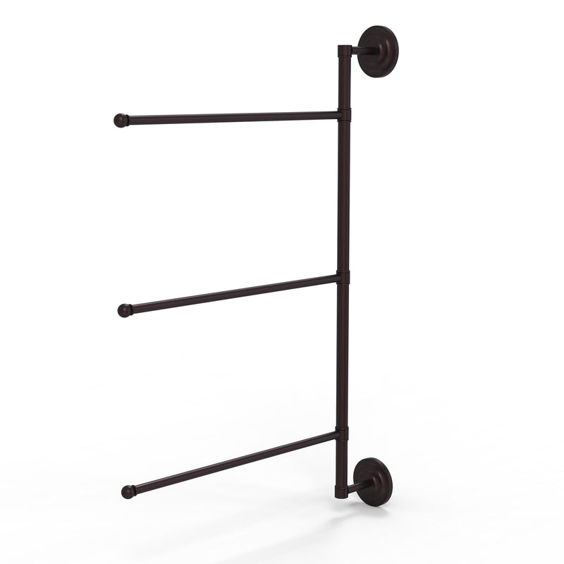 Allied Brass Prestige Que New Collection 3 Swing Arm Vertical 28 Inch Towel Bar PQN-27-3-16-28-ABZ