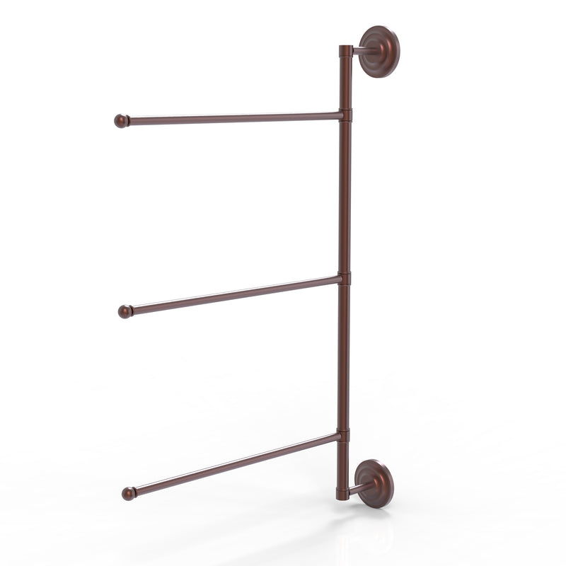 Allied Brass Prestige Que New Collection 3 Swing Arm Vertical 28 Inch Towel Bar PQN-27-3-16-28-CA