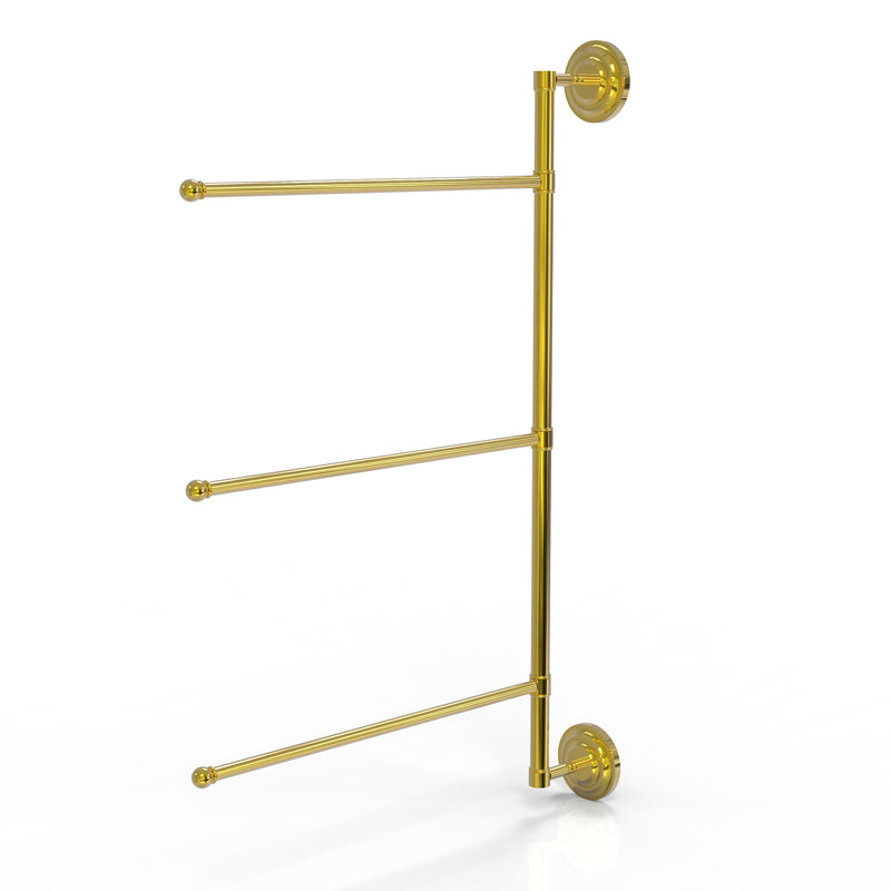 Allied Brass Prestige Que New Collection 3 Swing Arm Vertical 28 Inch Towel Bar PQN-27-3-16-28-PB
