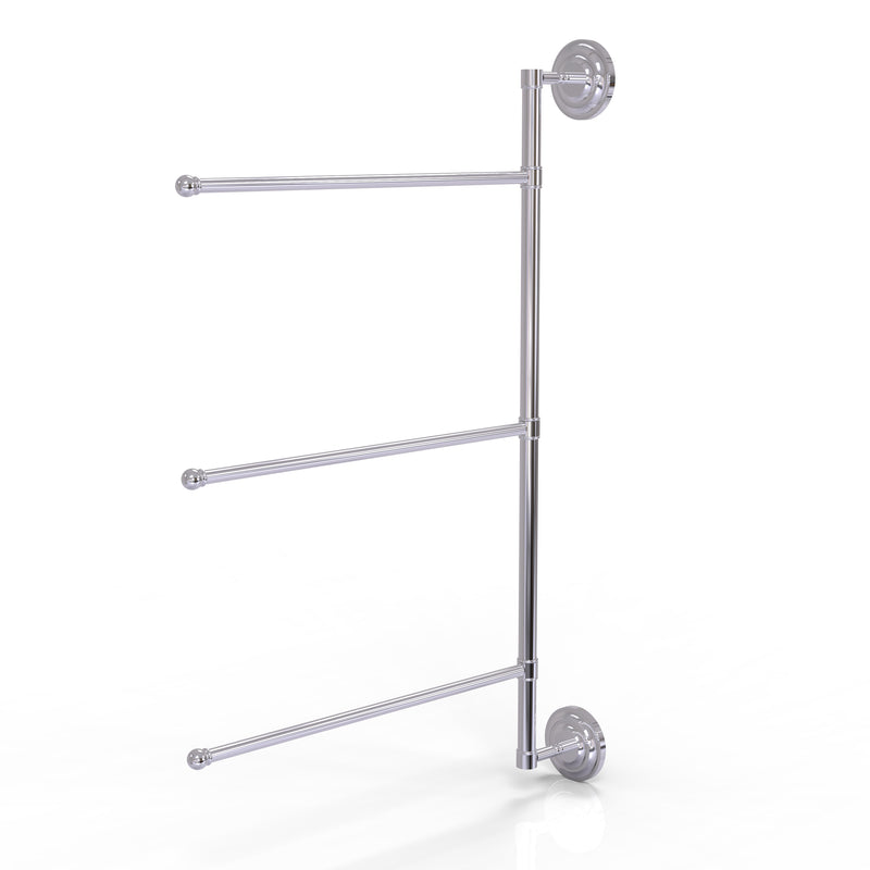 Allied Brass Prestige Que New Collection 3 Swing Arm Vertical 28 Inch Towel Bar PQN-27-3-16-28-PC