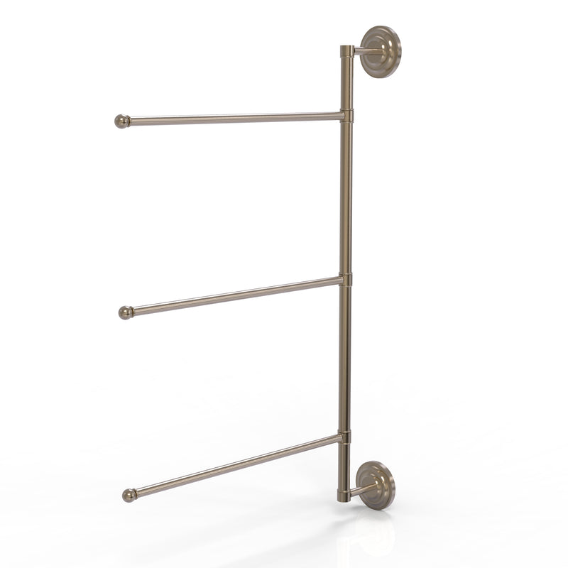 Allied Brass Prestige Que New Collection 3 Swing Arm Vertical 28 Inch Towel Bar PQN-27-3-16-28-PEW