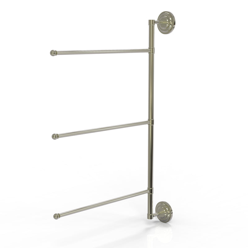 Allied Brass Prestige Que New Collection 3 Swing Arm Vertical 28 Inch Towel Bar PQN-27-3-16-28-PNI