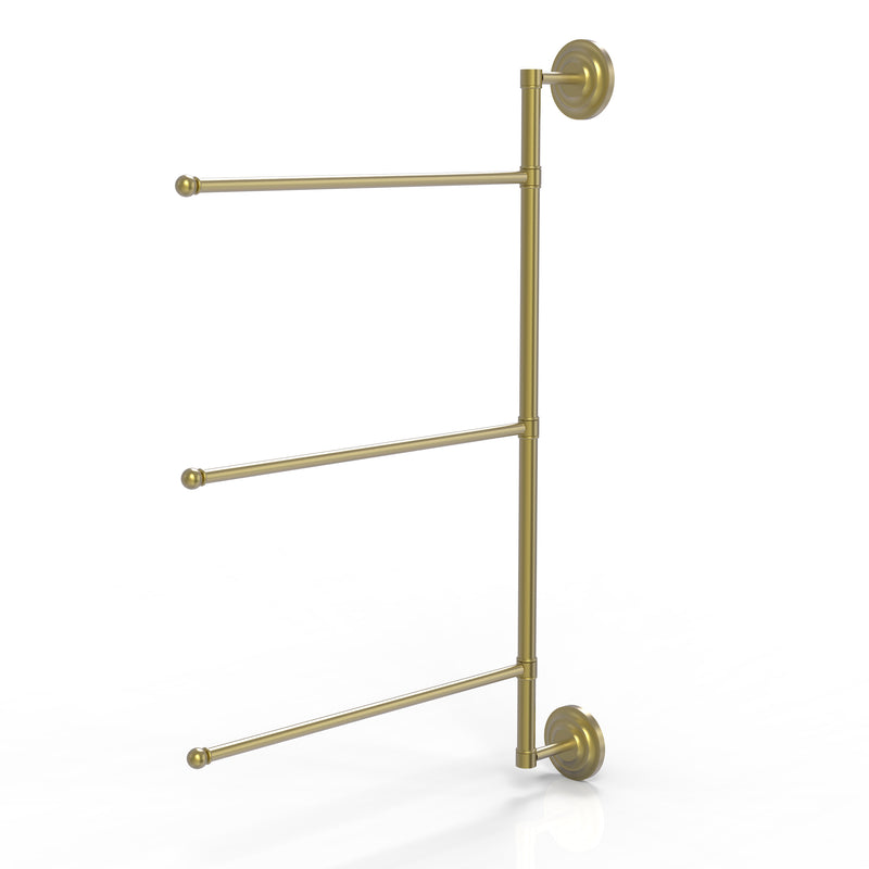 Allied Brass Prestige Que New Collection 3 Swing Arm Vertical 28 Inch Towel Bar PQN-27-3-16-28-SBR