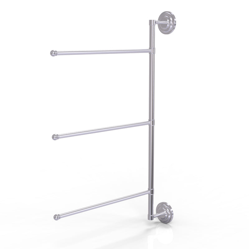 Allied Brass Prestige Que New Collection 3 Swing Arm Vertical 28 Inch Towel Bar PQN-27-3-16-28-SCH