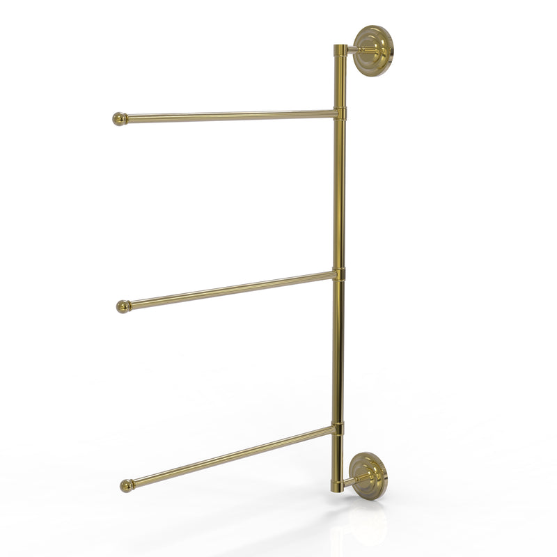 Allied Brass Prestige Que New Collection 3 Swing Arm Vertical 28 Inch Towel Bar PQN-27-3-16-28-UNL