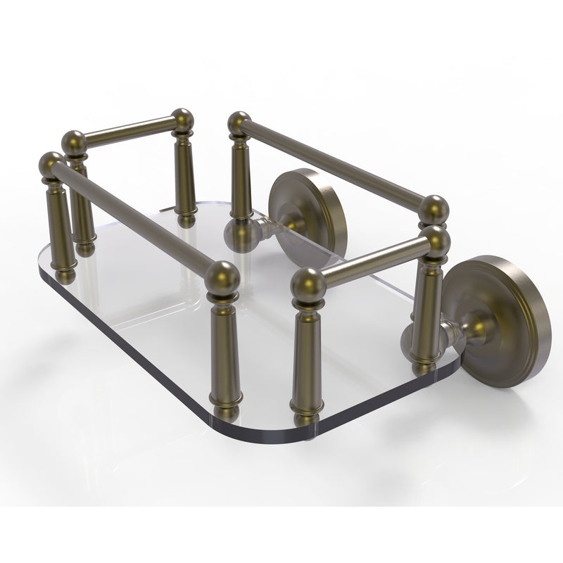Allied Brass Prestige Regal Collection Wall Mounted Glass Guest Towel Tray PR-GT-5-ABR