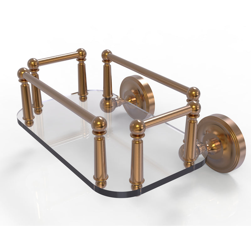Allied Brass Prestige Regal Collection Wall Mounted Glass Guest Towel Tray PR-GT-5-BBR