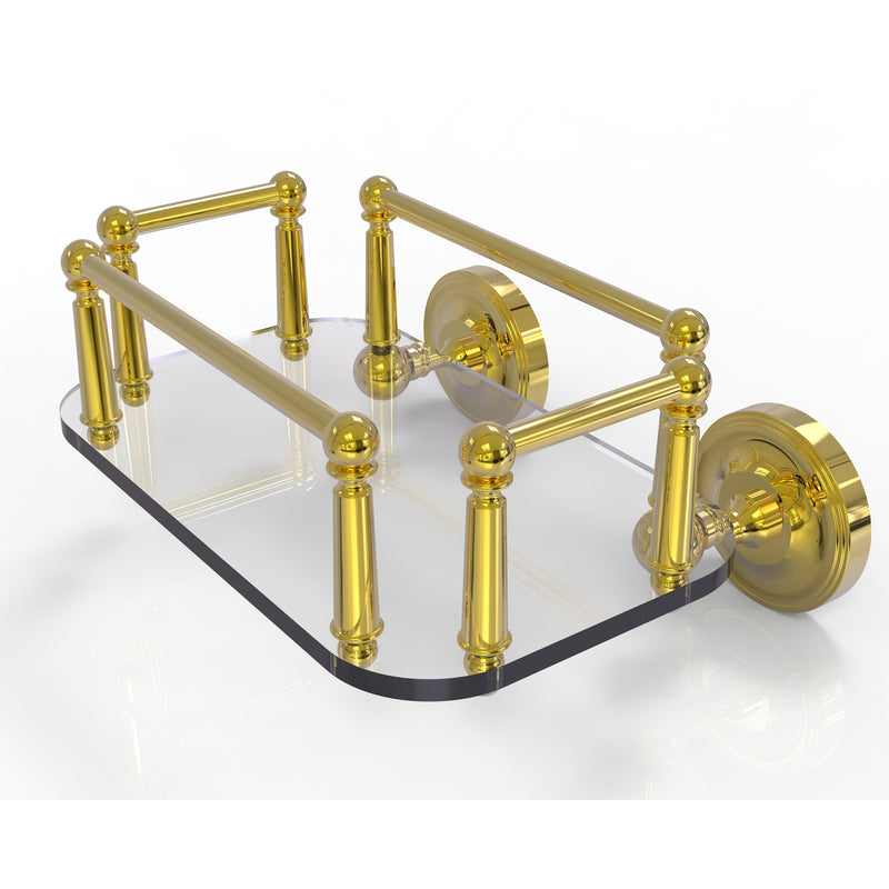 Allied Brass Prestige Regal Collection Wall Mounted Glass Guest Towel Tray PR-GT-5-PB