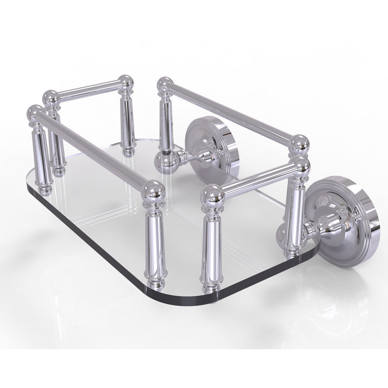 Allied Brass Prestige Regal Collection Wall Mounted Glass Guest Towel Tray PR-GT-5-PC