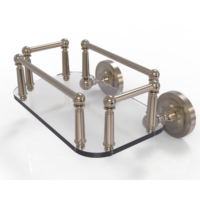 Allied Brass Prestige Regal Collection Wall Mounted Glass Guest Towel Tray PR-GT-5-PEW