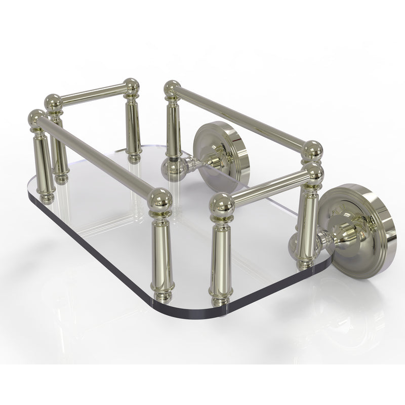 Allied Brass Prestige Regal Collection Wall Mounted Glass Guest Towel Tray PR-GT-5-PNI