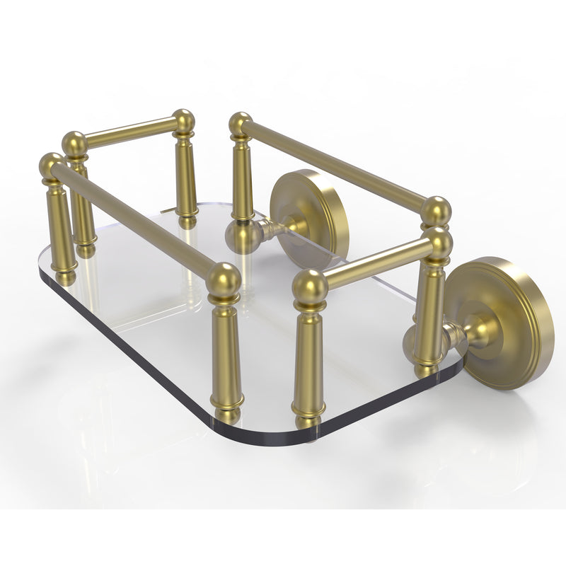 Allied Brass Prestige Regal Collection Wall Mounted Glass Guest Towel Tray PR-GT-5-SBR