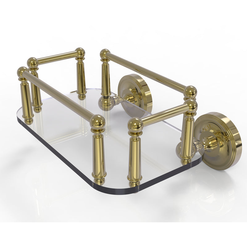Allied Brass Prestige Regal Collection Wall Mounted Glass Guest Towel Tray PR-GT-5-UNL
