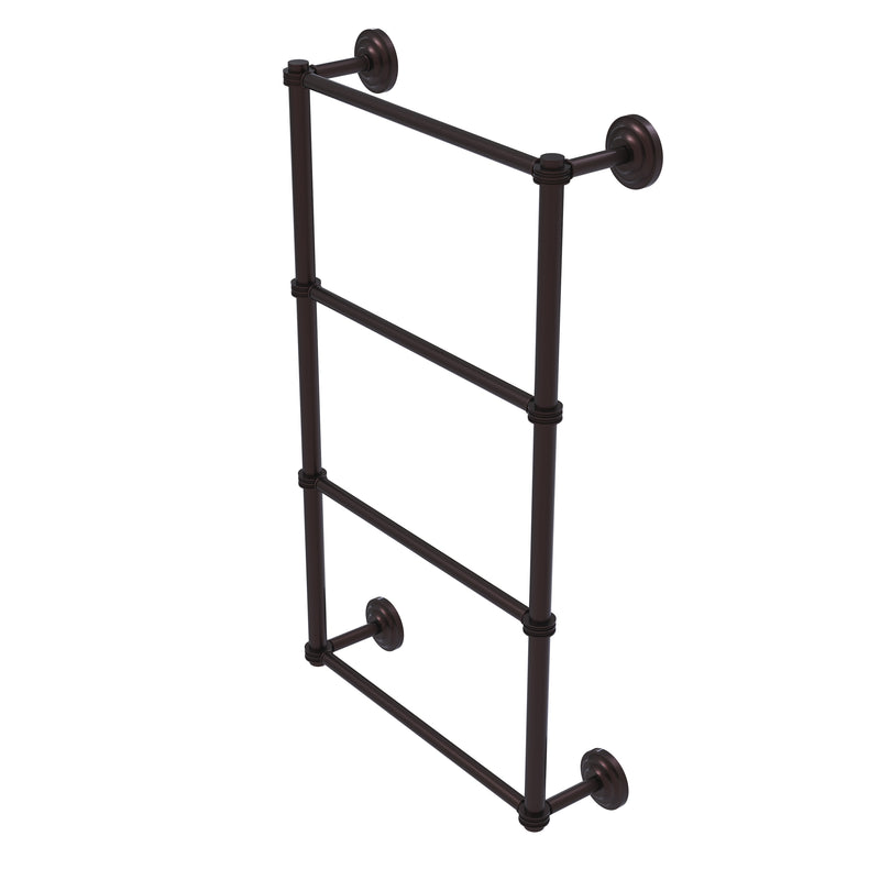 Allied Brass Que New Collection 4 Tier 30 Inch Ladder Towel Bar with Dotted Detail QN-28D-30-ABZ