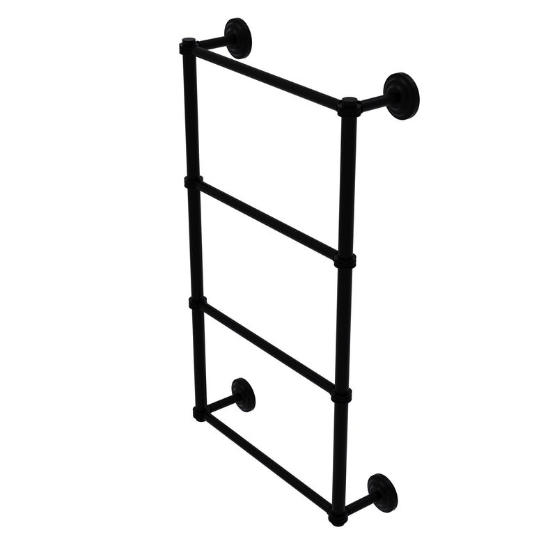 Allied Brass Que New Collection 4 Tier 30 Inch Ladder Towel Bar with Dotted Detail QN-28D-30-BKM