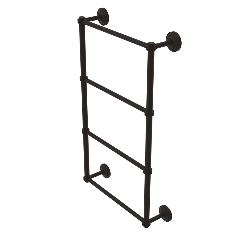 Allied Brass Que New Collection 4 Tier 30 Inch Ladder Towel Bar with Dotted Detail QN-28D-30-ORB