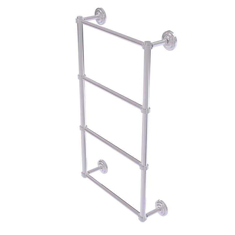 Allied Brass Que New Collection 4 Tier 30 Inch Ladder Towel Bar with Dotted Detail QN-28D-30-PC