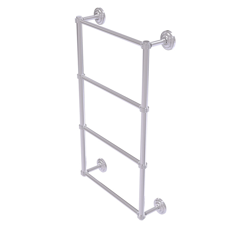Allied Brass Que New Collection 4 Tier 30 Inch Ladder Towel Bar with Dotted Detail QN-28D-30-SCH