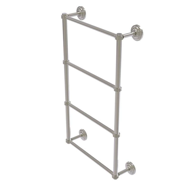 Allied Brass Que New Collection 4 Tier 30 Inch Ladder Towel Bar with Dotted Detail QN-28D-30-SN