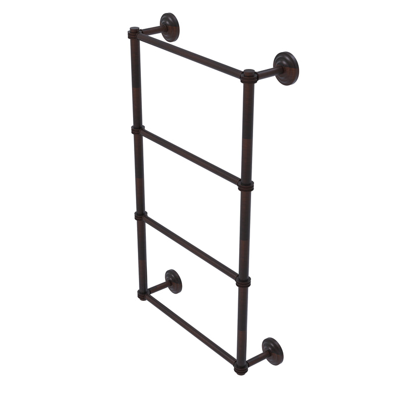 Allied Brass Que New Collection 4 Tier 30 Inch Ladder Towel Bar with Dotted Detail QN-28D-30-VB