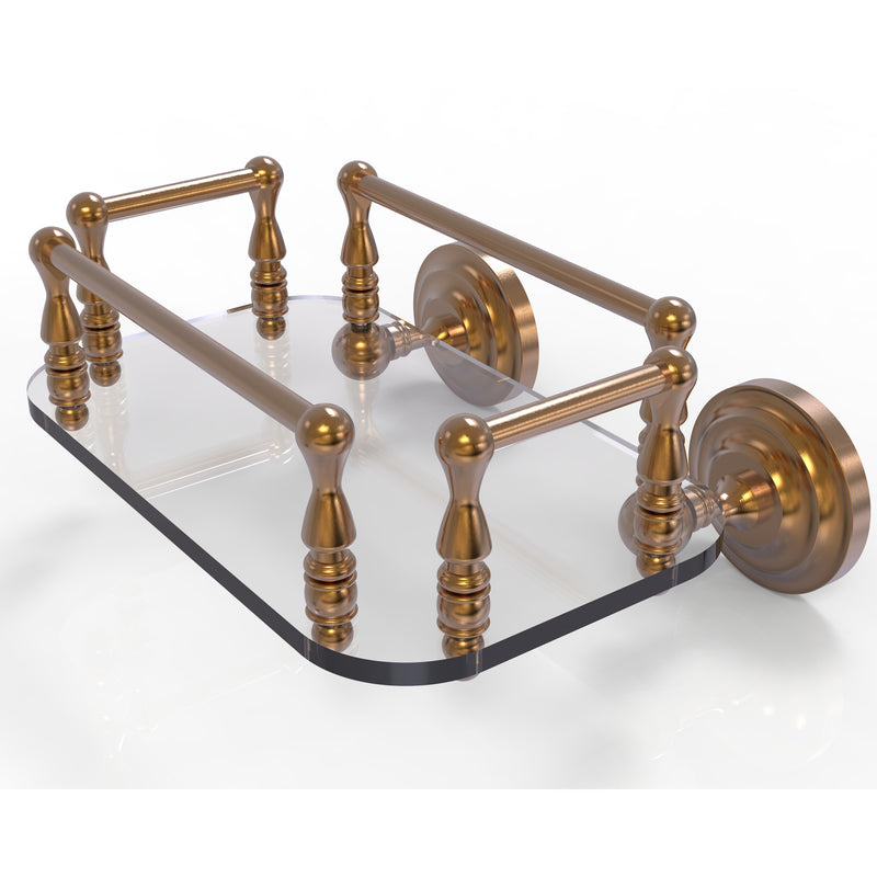 Allied Brass Que New Collection Wall Mounted Glass Guest Towel Tray QN-GT-6-BBR