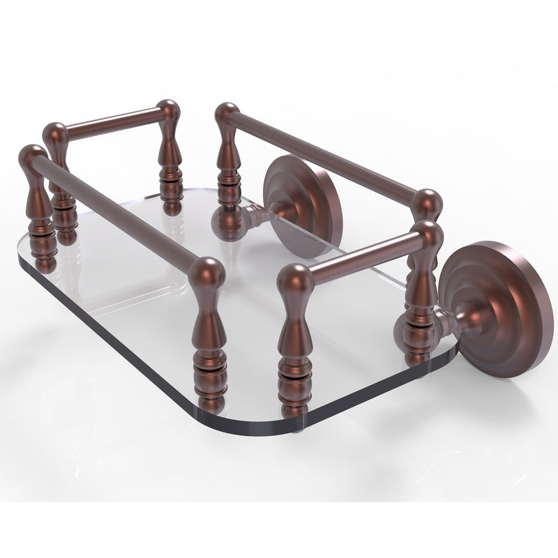 Allied Brass Que New Collection Wall Mounted Glass Guest Towel Tray QN-GT-6-CA