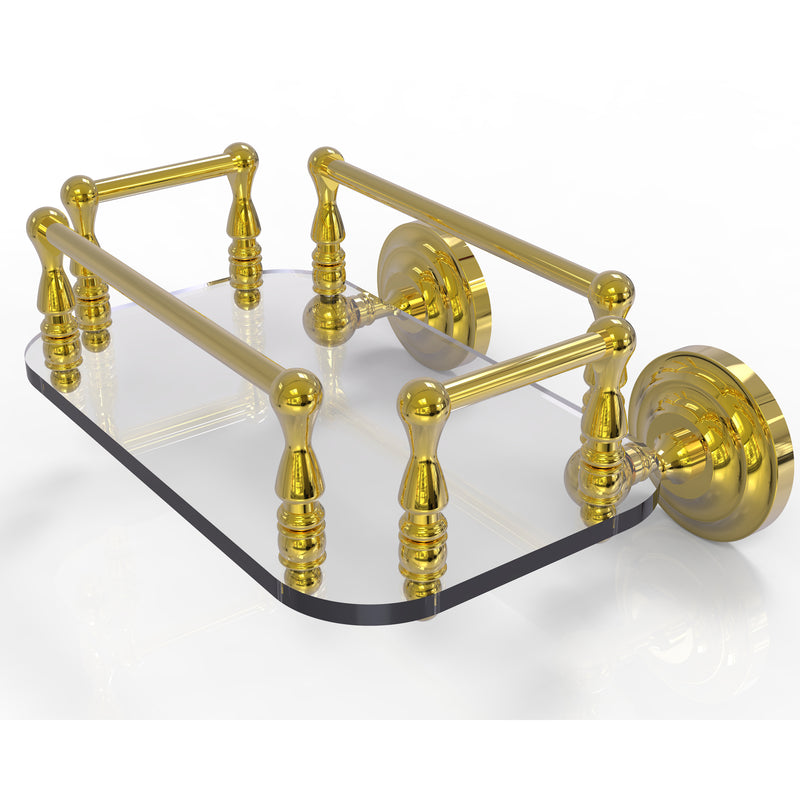 Allied Brass Que New Collection Wall Mounted Glass Guest Towel Tray QN-GT-6-PB