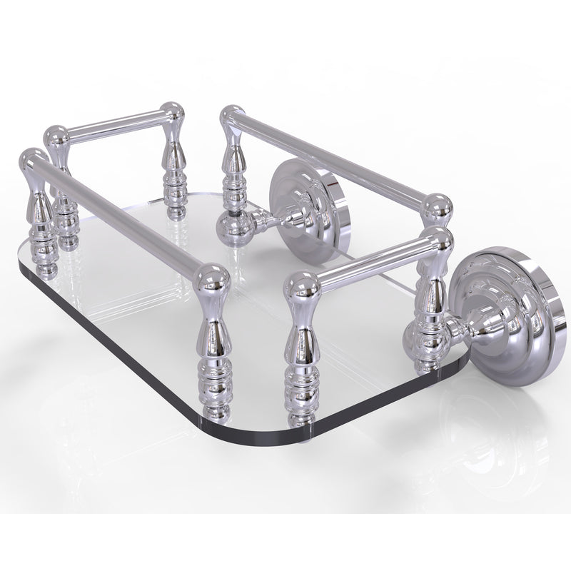 Allied Brass Que New Collection Wall Mounted Glass Guest Towel Tray QN-GT-6-PC