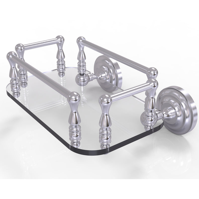 Allied Brass Que New Collection Wall Mounted Glass Guest Towel Tray QN-GT-6-SCH