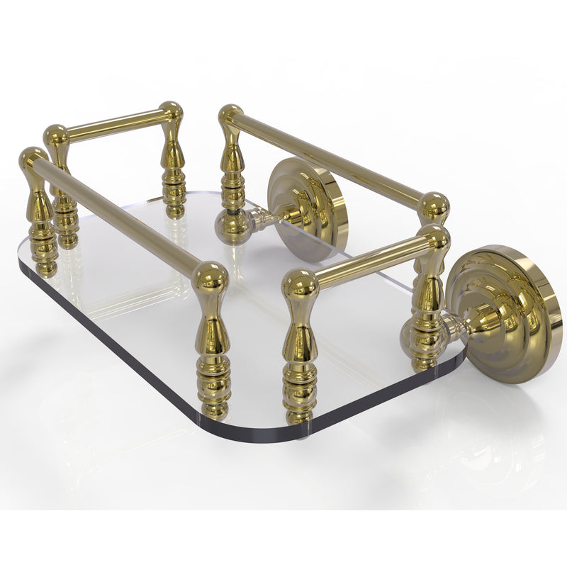 Allied Brass Que New Collection Wall Mounted Glass Guest Towel Tray QN-GT-6-UNL
