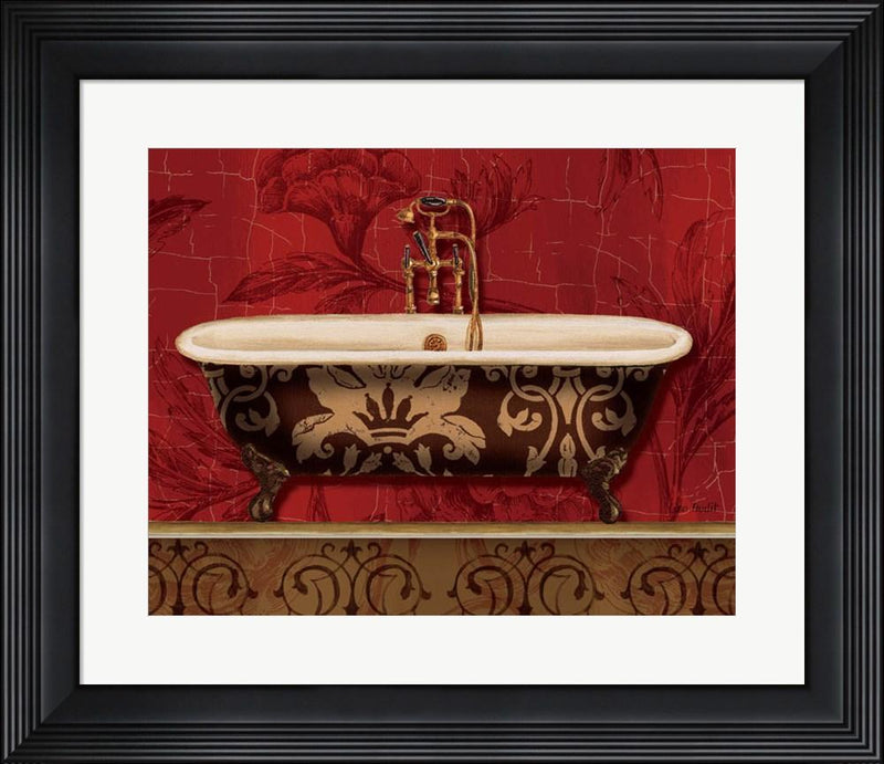 Lisa Audit Royal Red Bath I Contemporary Stepped Solid Black with Satin Finish R740217-AEAEAGME8E