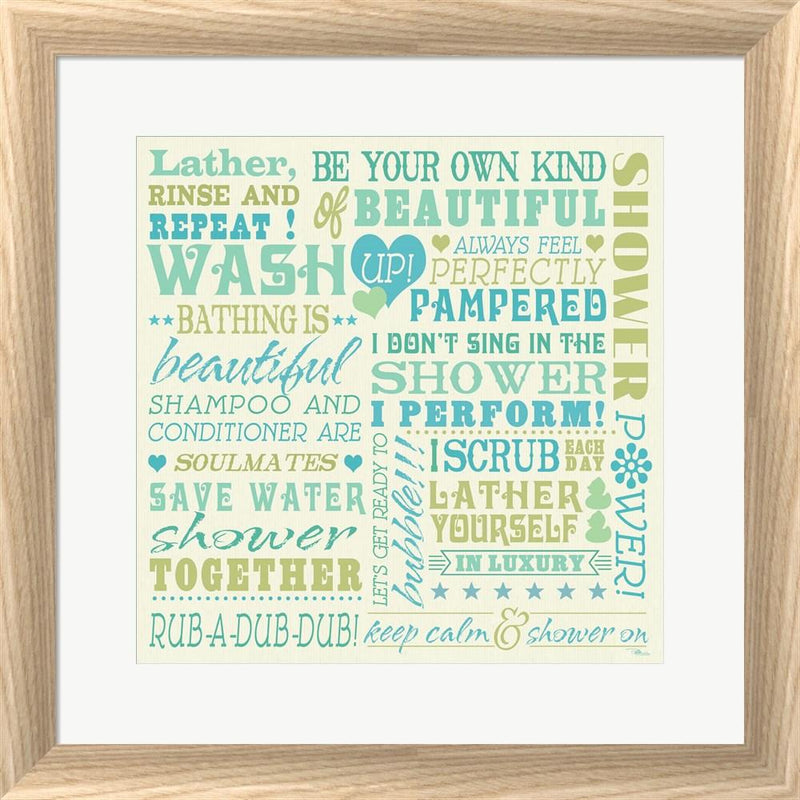 Pela Studio Wash Up Words White Washed Rounded Oatmeal Faux Wood R792876-AEAEAGJEMY