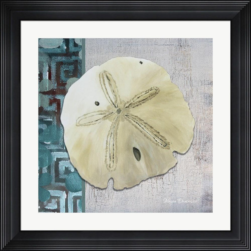 Megan Duncanson Sand Dollar 1 - Side Border And Turquoise Crackle Back Contemporary Stepped Solid Black with Satin Finish R808564-AEAEAGME8E