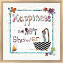 Megan Duncanson Happiness Is A Hot Shower White Washed Rounded Oatmeal Faux Wood R808617-AEAEAGJEMY
