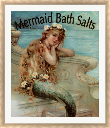 Vintage Apple Collection Mermaid Bathsalts White Washed Rounded Oatmeal Faux Wood R820733-AEAEAGJEMY