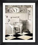 Mindy Sommers Victorian Bathroom Contemporary Stepped Solid Black with Satin Finish R821905-AEAEAGME8E