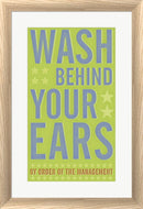John W. Golden Wash Behind Your Ears White Washed Rounded Oatmeal Faux Wood R822567-AEAEAGJEMY