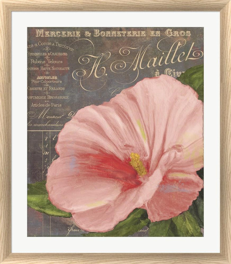 Color Bakery Peach Hibiscus White Washed Rounded Oatmeal Faux Wood R824546-AEAEAGJEMY