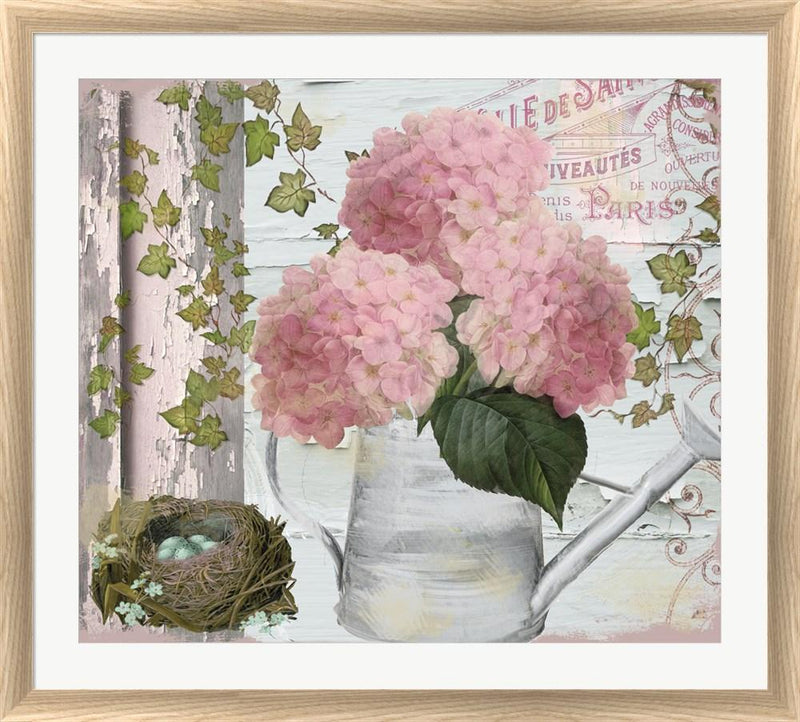 Color Bakery Chalet d ete Hydrangea White Washed Rounded Oatmeal Faux Wood R824602-AEAEAGJEMY