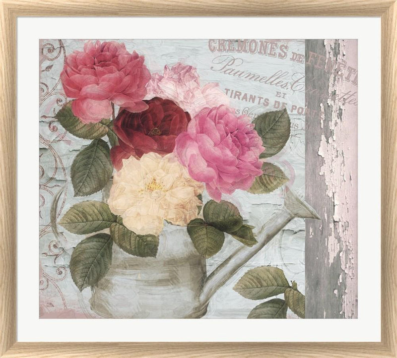 Color Bakery Chalet d ete roses White Washed Rounded Oatmeal Faux Wood R824603-AEAEAGJEMY