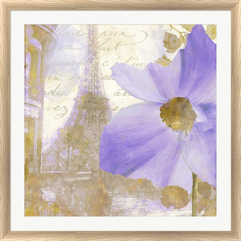 Color Bakery Purple Paris I White Washed Rounded Oatmeal Faux Wood R824734-AEAEAGJEMY