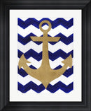 Artpoptart Chevron Anchor Contemporary Stepped Solid Black with Satin Finish R827901-AEAEAGME8E